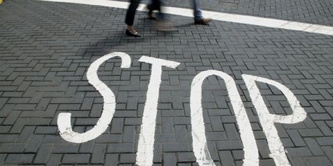 how to handle patronizing people; stop sign