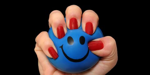 Finger, Nail, Facial expression, Thumb, Carmine, Colorfulness, Electric blue, Gesture, Emoticon, Smiley,