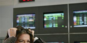 woman pulling hair airport