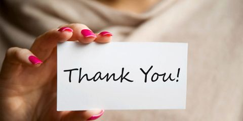 Expressing gratitude is good for your health; thank you card