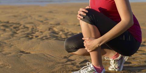Leg, Human leg, Shoe, Sand, Athletic shoe, Elbow, Thigh, Knee, Calf, Sneakers,