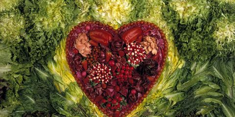 Red, Natural foods, Art, Produce, Illustration, Whole food, Painting, Leaf vegetable, Fruit, Superfood,