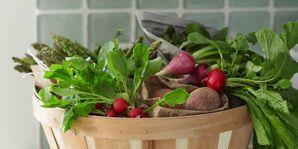 how to afford organics-basket of veggies