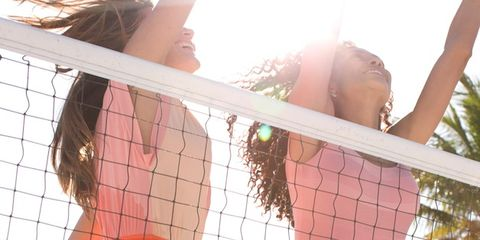 Head, Skin, Photograph, People in nature, Summer, Sunlight, Beauty, Net, Mesh, Brown hair,