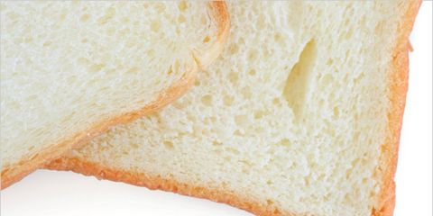 diet may contribute to acne; slices of white bread