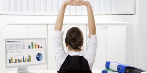 exercise increases workplace productivity woman at work