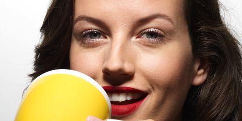 collagen drinks popular for better skin; woman drinking