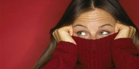 Embarrassing health tools women should try; embarrassed woman