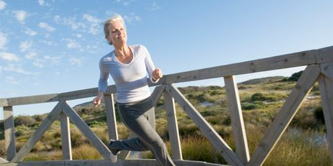 Exercise time affects circadian rhythm; woman exercising