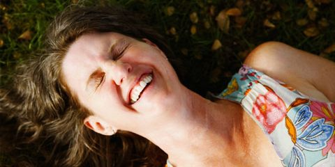 Healthy after 40; woman laughing