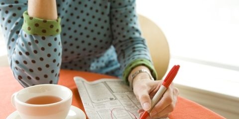 january a popular time for job seekers; woman seeking a job