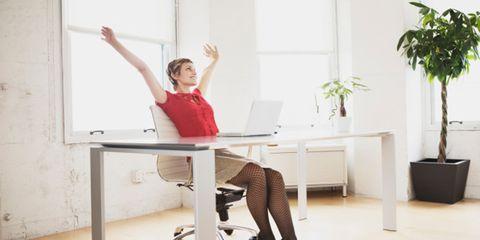 Women don't negotiate salaries; woman at work