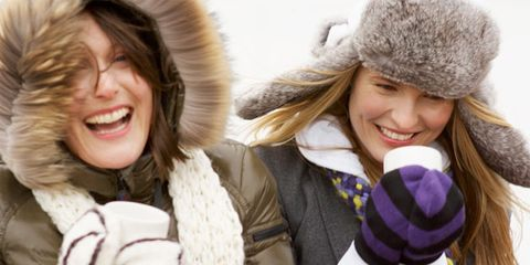 Natural cures for cold weather; women in cold weather
