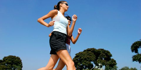 Fit teammates can improve workouts; women running together