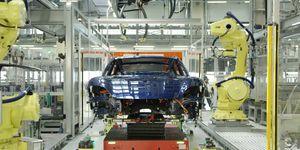 Porsche Taycan fabricación