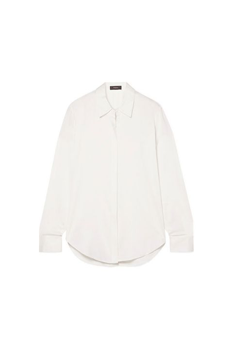 Theory Button Down Silk Shirt