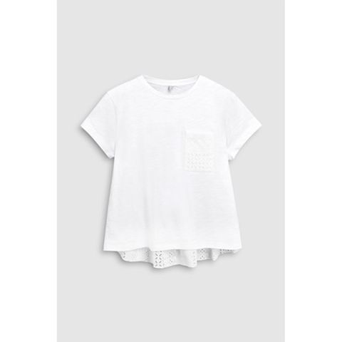 Next/Mix T-Shirt With Broderie Back