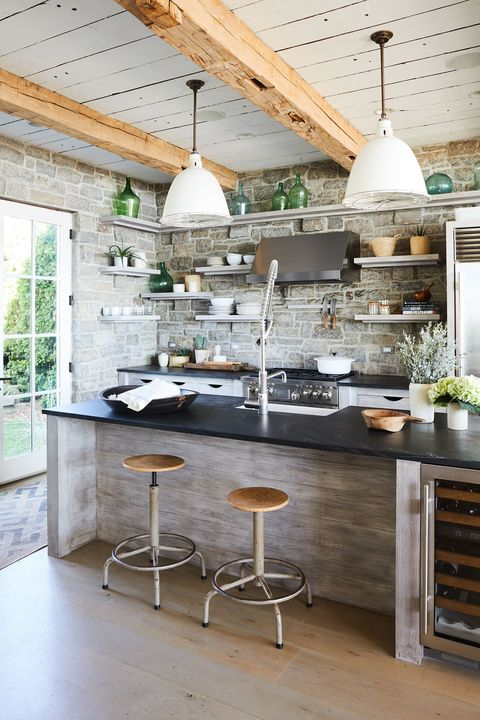 Countertop, Kitchen, Room, Furniture, Interior design, Property, Building, Floor, Ceiling, Tile,
