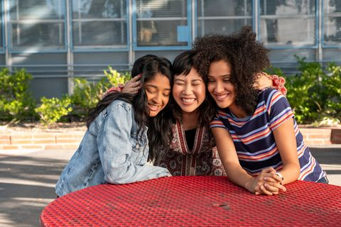 never have i ever l to r maitreyi ramakrishnan as devi vishwakumar, ramona young as eleanor wong, and lee rodriguez as fabiola torres in episode 102 of never have i ever cr lara solankinetflix © 2020