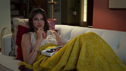 richa shukla as kamala nandiawada in episode 104 of never have i ever