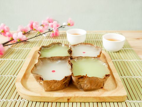 nian gao or chinese new year's cake rice cake