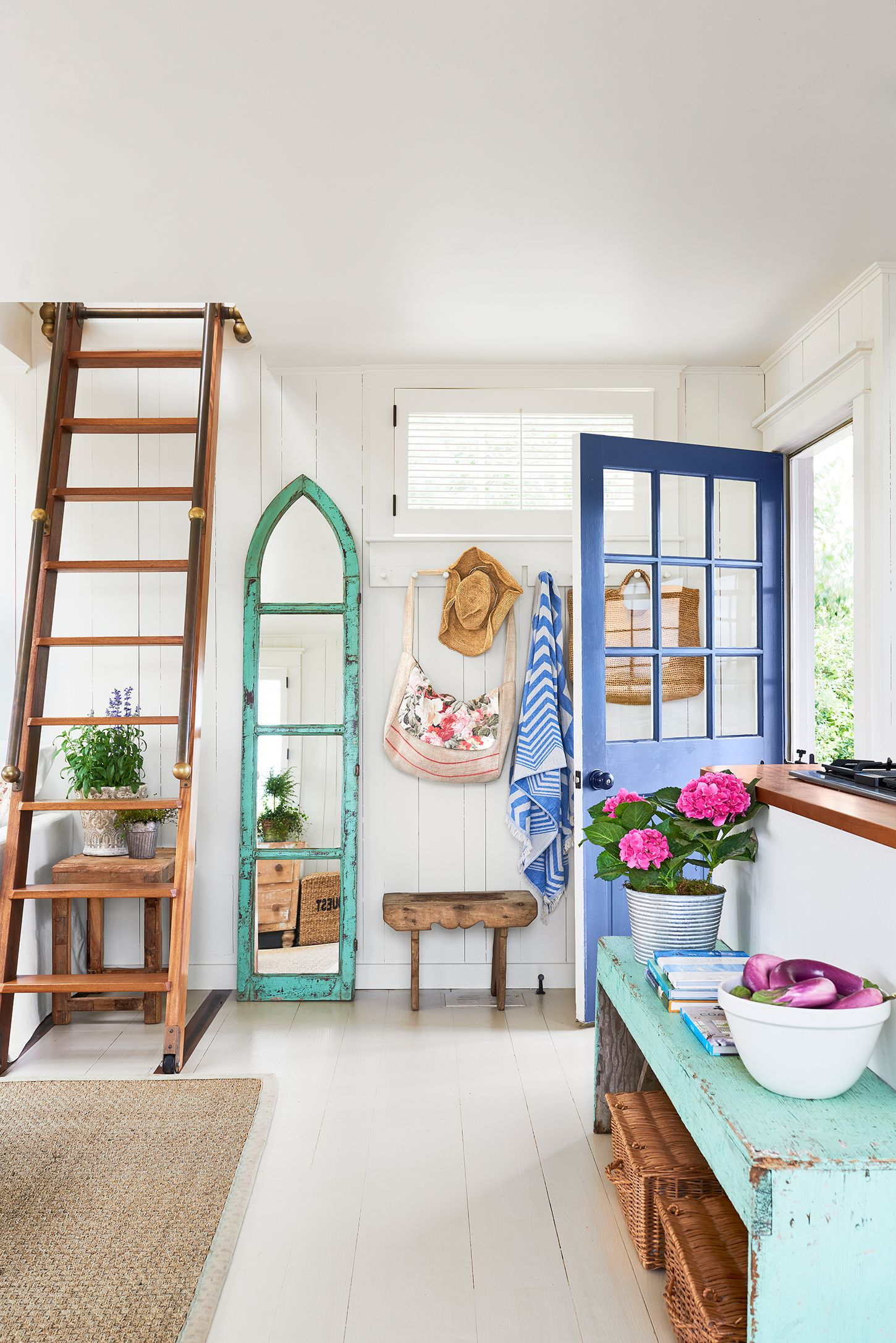 entryway martha's vineyard beach house tour decorating ideas