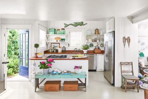 kitchen martha's vineyard beach house tour decorating ideas