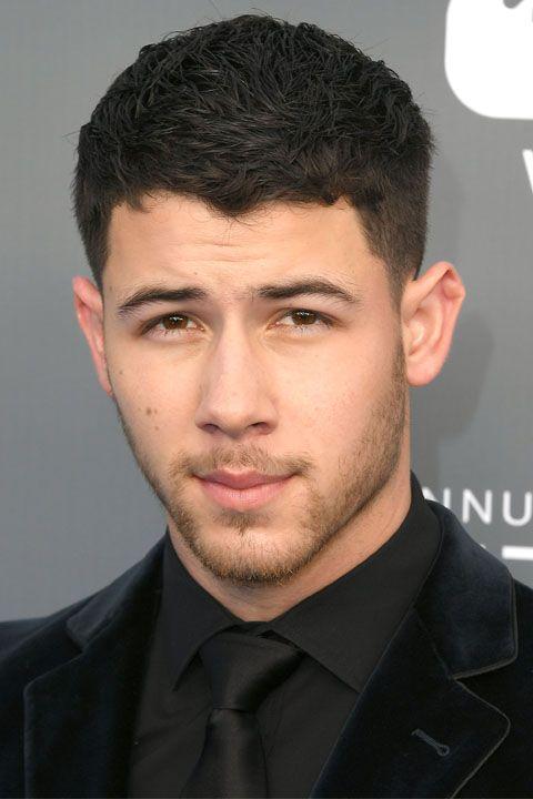 nick Jonas black suit