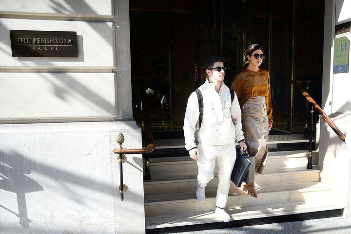 Priyanka Chopra and Nick Jonas Dress Up For a Romantic Stroll in Paris