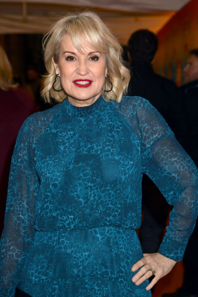 Nicki Chapman takes to the red carpet following positive surgery outcome