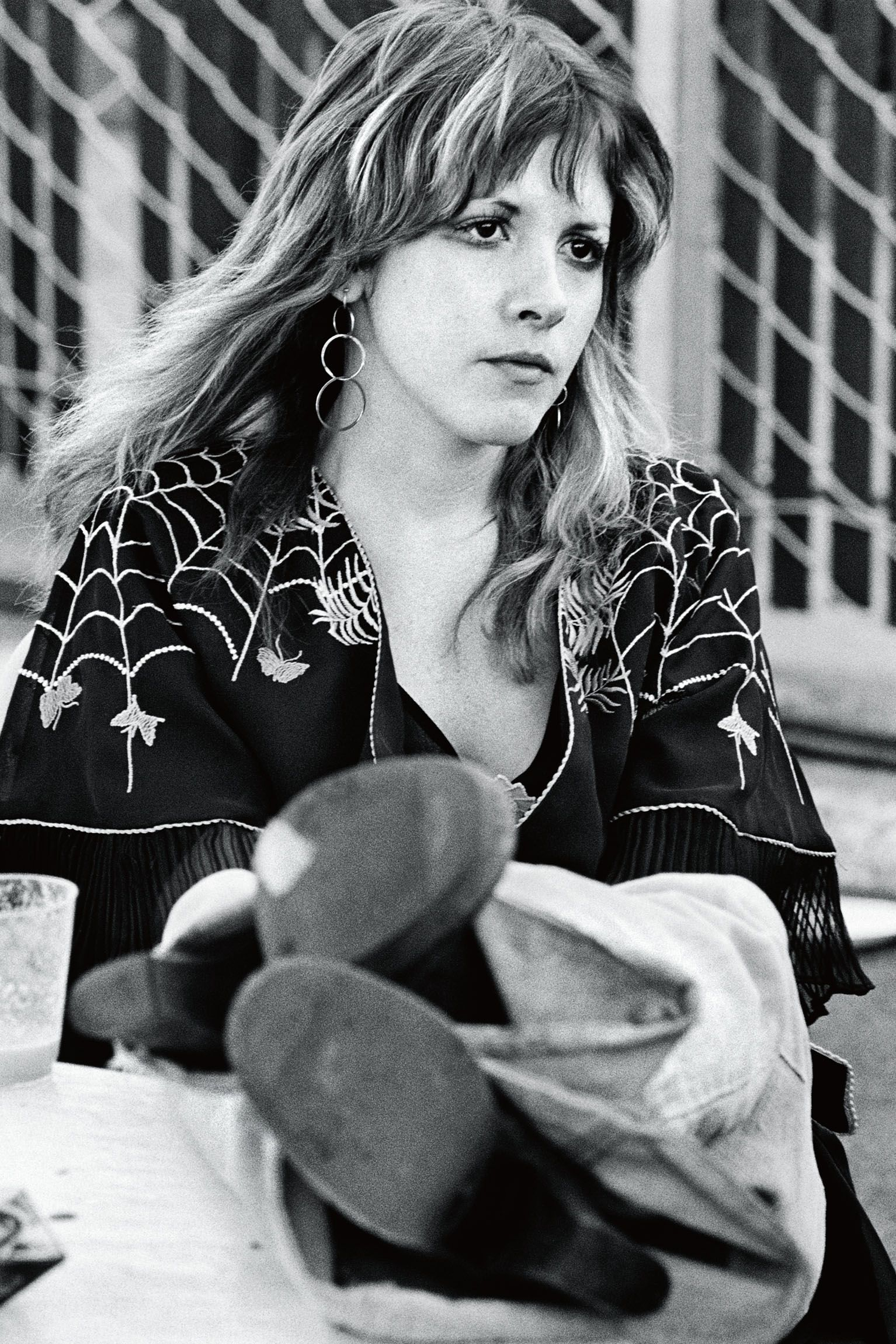 Stevie Nicks in 1976 between sets at Day on the Green, a recurring concert that took place in Oakland, California.