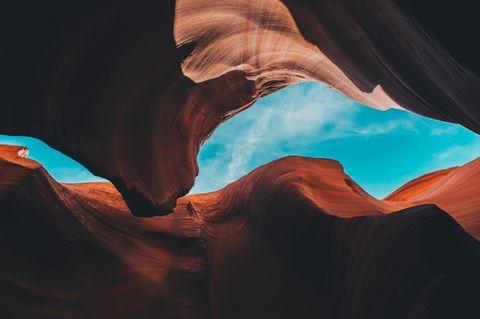 Blue, Sky, Canyon, Geology, Rock, Cloud, Formation, Landscape, Space, National park,