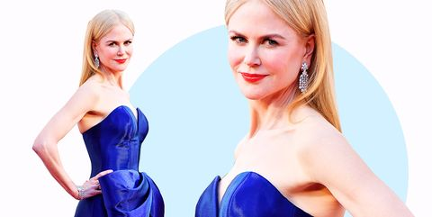 Hair, Shoulder, Skin, Cobalt blue, Blond, Hairstyle, Dress, Blue, Beauty, Electric blue,