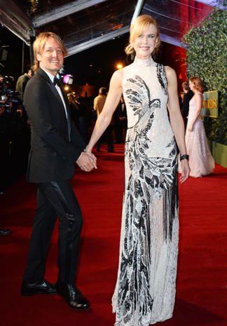 """Nicole Kidman e Keith Urban Lei: 5'11""""; Lui:5'10""""; Differenza: 1 pollice, ma Nicole non mettere i tacchi!"""