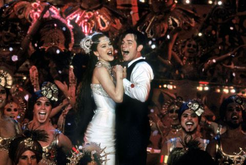 "Nicole Kidman y Ewan McGregor en ""Moulin Rouge"""