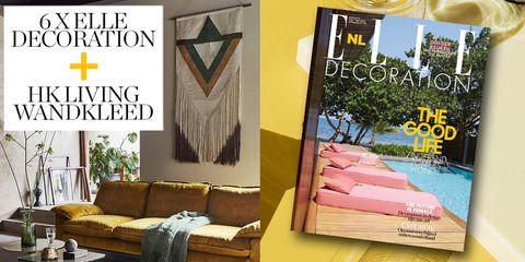 HK Living, wandkleed, abonnement, jaarabonnement, ELLE Decoration, kleed, muur, Azteeks, patroon
