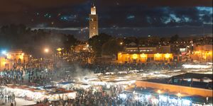Night market in Marrakesh