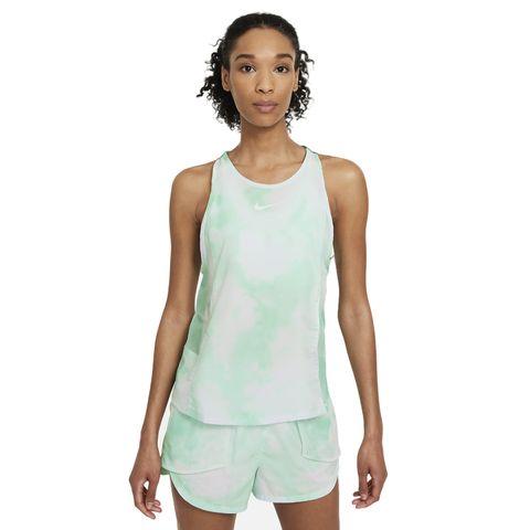 hardlooptanktop dames nike icon tanktop hardloopshirt singlet hardloopkleding groen