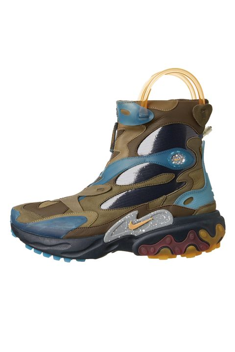 Footwear, Shoe, Hiking boot, Turquoise, Boot, Outdoor shoe, Steel-toe boot, Beige, Sandal,
