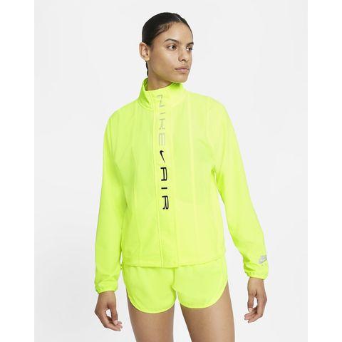 nike air drifit hardloopjack dames geel neon hardlopen hardloopkleding