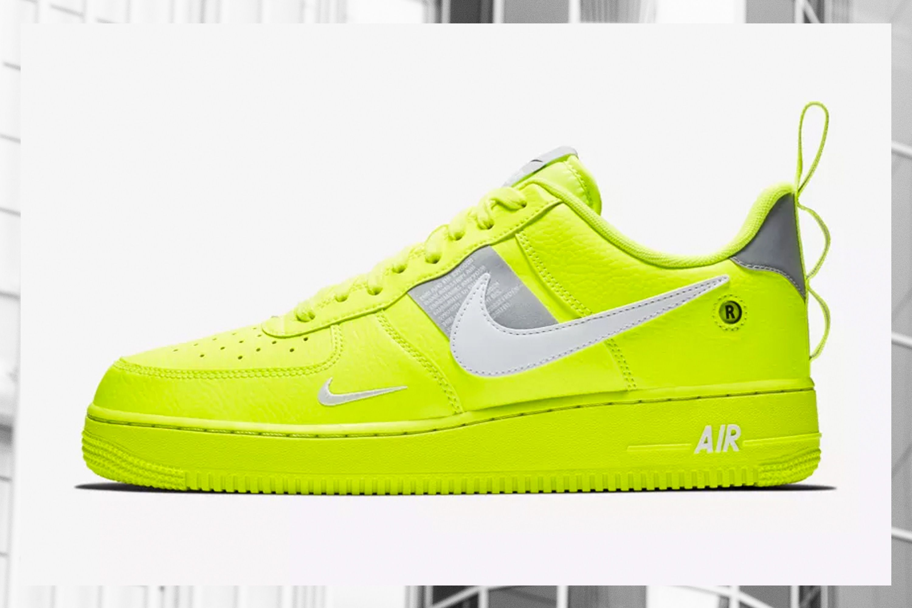 air force 1 plastico