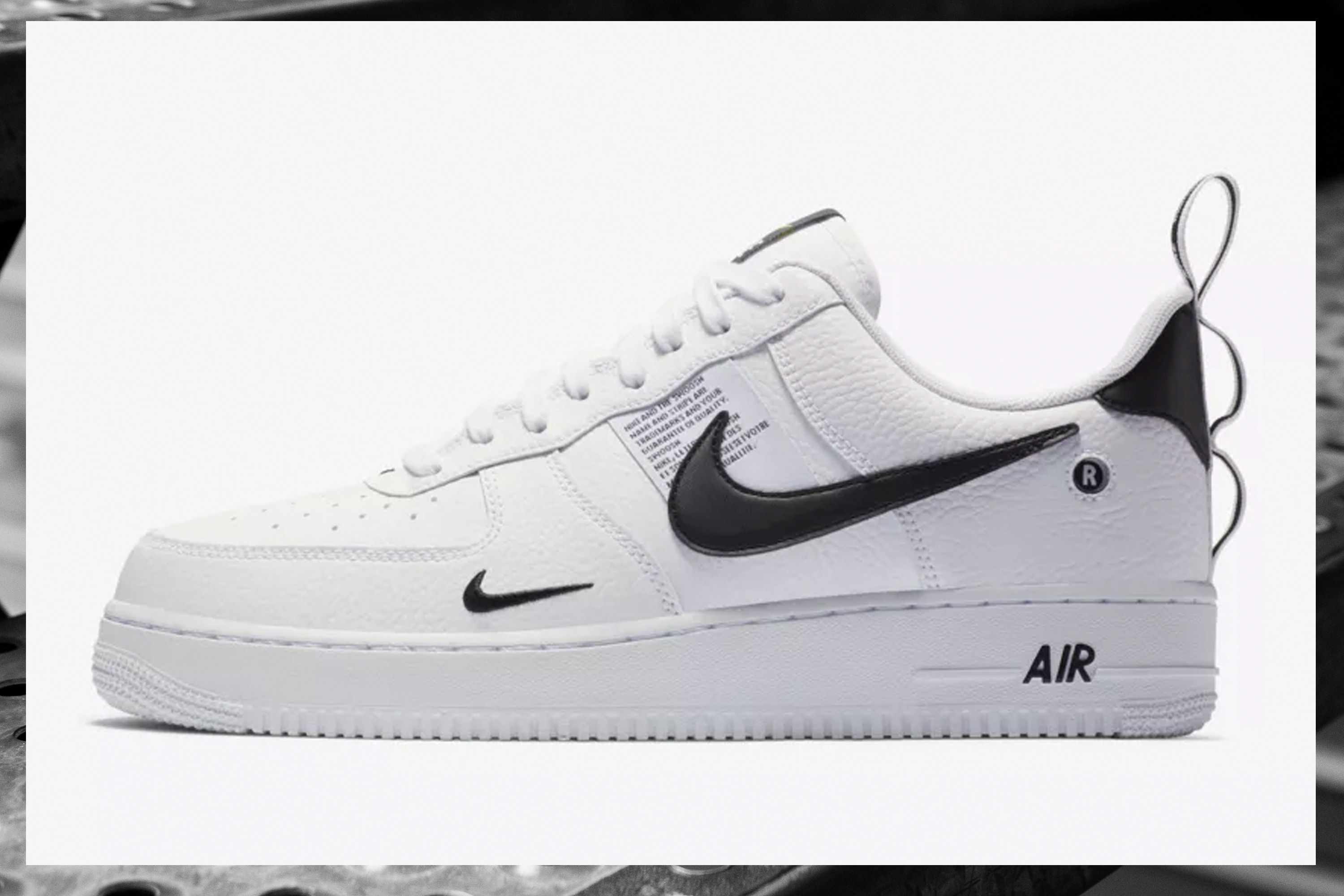 nike air force 1 suela negra