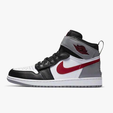zapatillas air jordan 1 gris y rojo