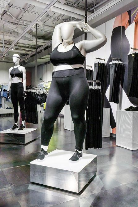 info pour bbb0b 12a84 Nike Is Now Using Plus-Size Mannequins In-Store
