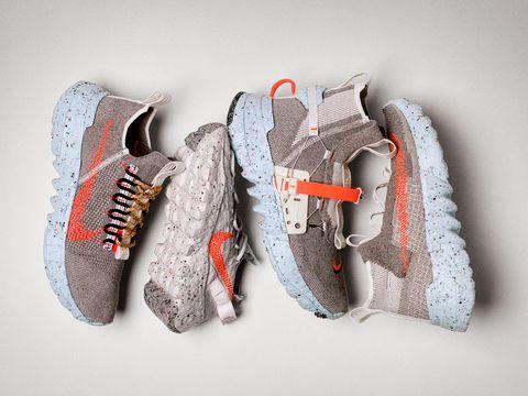 Footwear, Shoe, White, Sportswear, Orange, Sneakers, Grey, Outdoor shoe, Athletic shoe, Carmine,