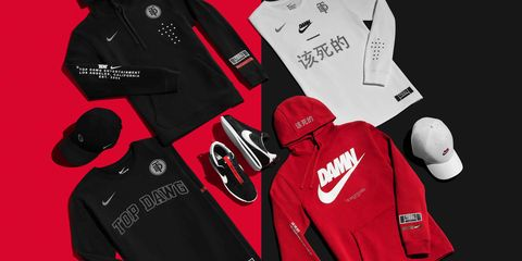 Red, Clothing, Product, Personal protective equipment, Sports gear, Carmine, Outerwear, Sportswear, Jacket, Sleeve,