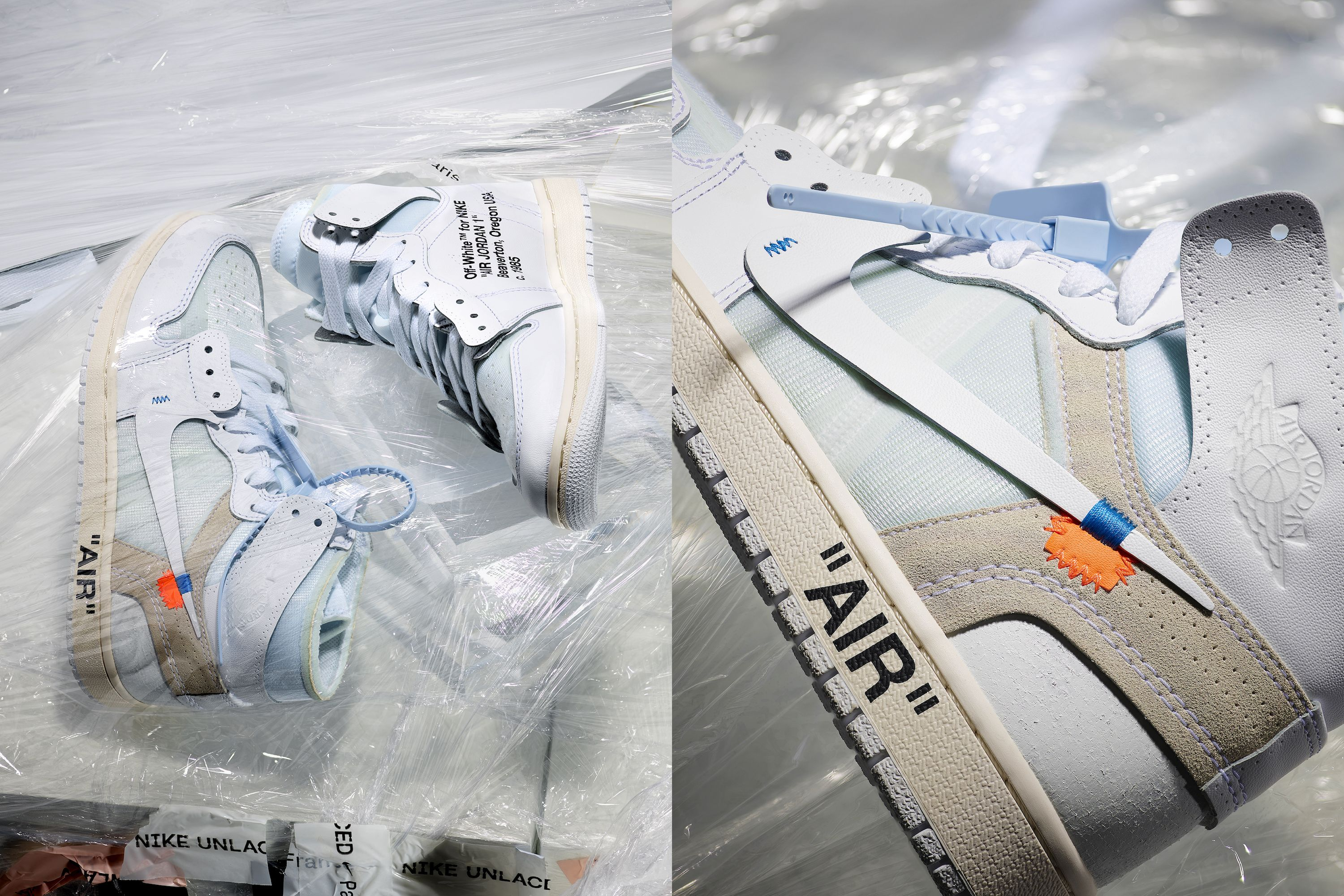 Off White for Nike sneakers at Nike Unlaced.