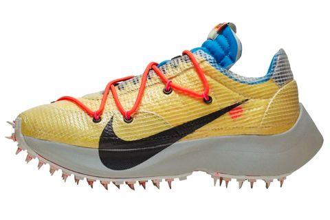 Shoe, Footwear, Outdoor shoe, Running shoe, White, Orange, Walking shoe, Athletic shoe, Yellow, Cross training shoe,