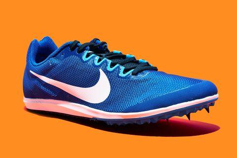 Shoe, Footwear, Running shoe, Outdoor shoe, Athletic shoe, Blue, Orange, Walking shoe, Electric blue, Cross training shoe,
