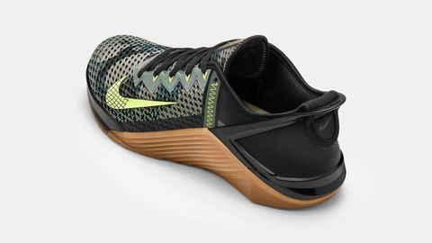 The new Nike Metcon 6 training shoe from an overhead angle